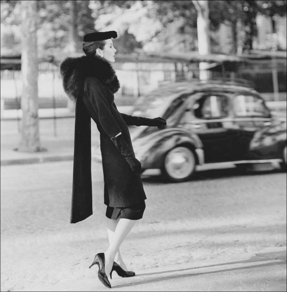 Balenciaga Woman-modeling-Balenciaga-coat-and-dress
