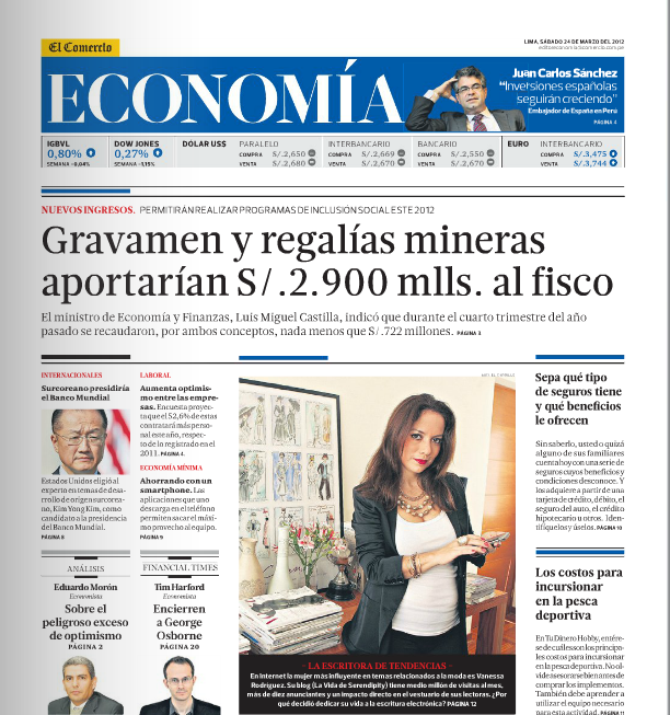 El Comercio Economía 24 Marzo 2012