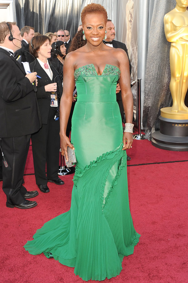 Viola Davis Vera Wang Oscar 2012