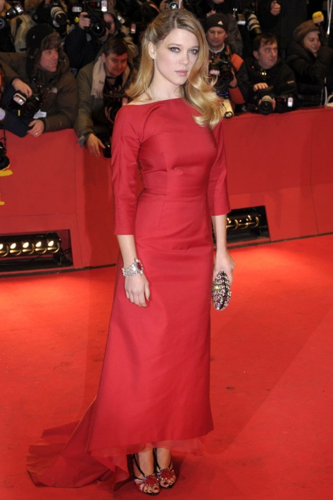 Lea-Seydoux Red Prada Dress