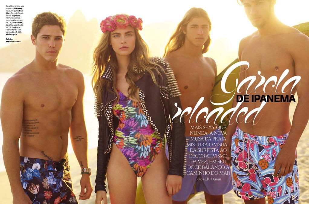"""Garota De Ipanema Reloaded"" - Cara Delevingne - Vogue Brazil November 2012 - J.R. Duran"