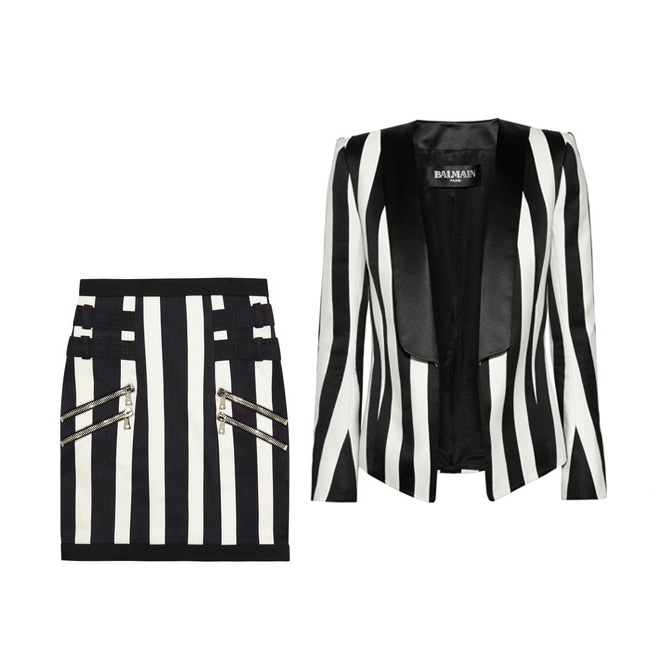 balmain striped suit