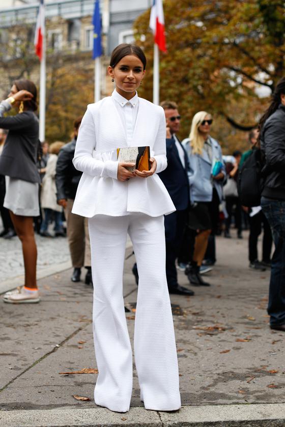 Miroslava Duma White Suit