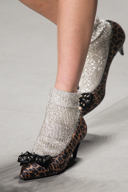 Saint Lauren leopard shoes