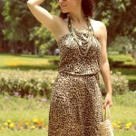 Vestido de leopardo Warehouse