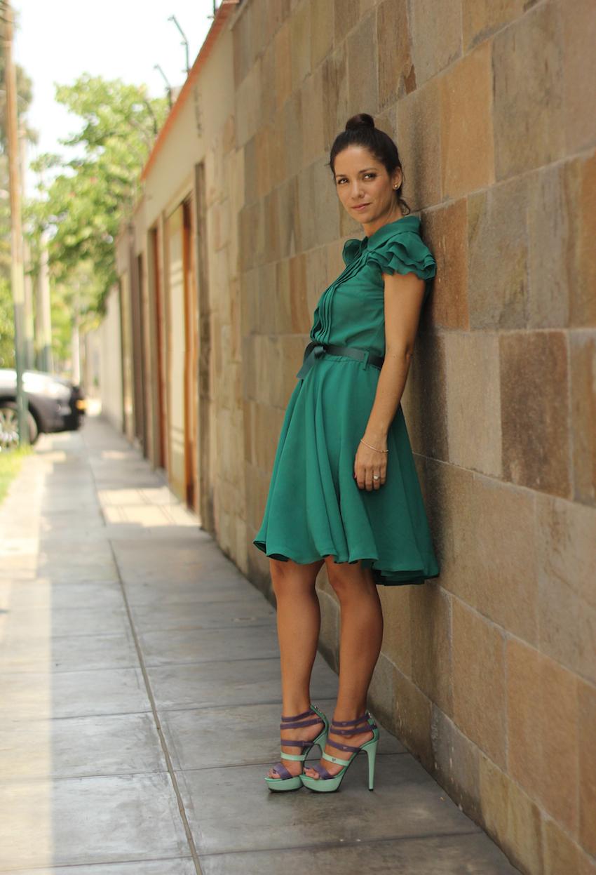 Vestido Verde Esmeralda de Roger Loayza + Zapatos LalaLove + La Vida de Serendipity 1
