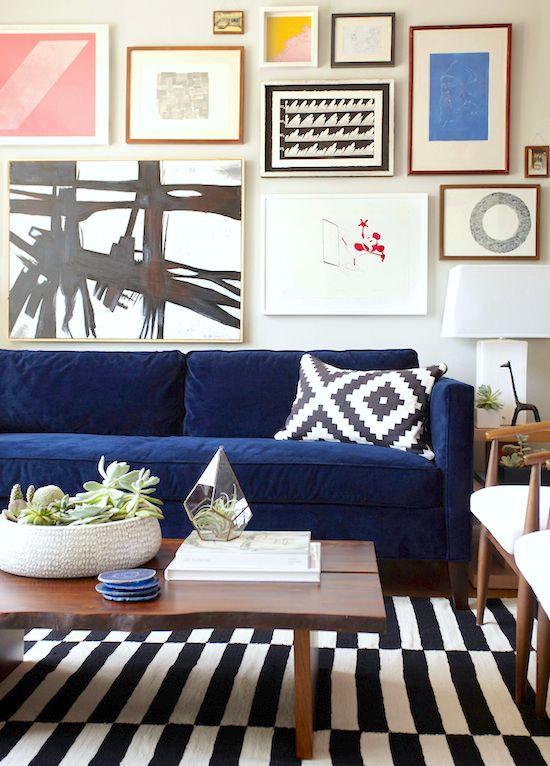 alfombra a rayas blanco y negro