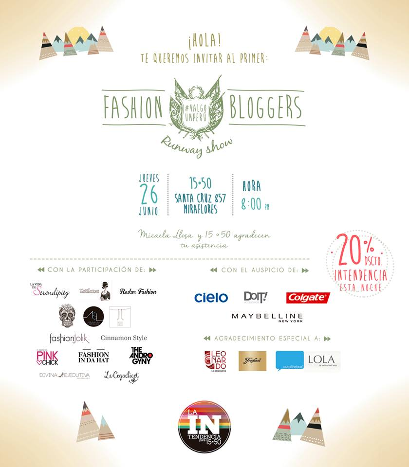 La Intendencia para 1550 Fashion bloggers runway show
