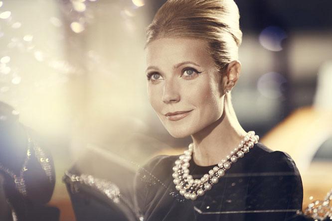 Gwyneth Paltrow as Audrey Hepburn for MaxFactor