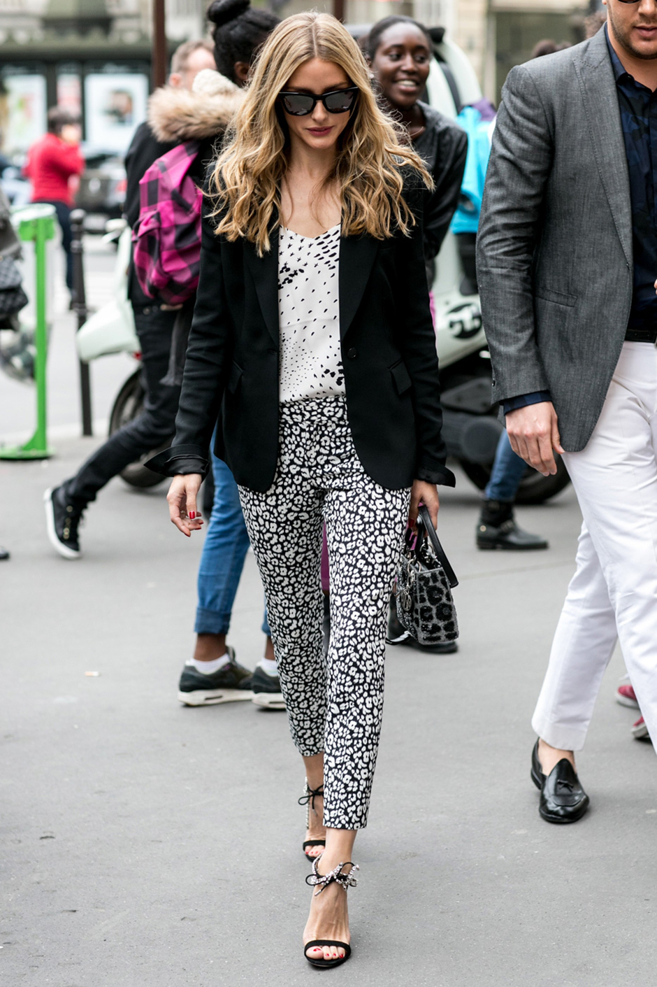 olivia palermo blonde couture street style