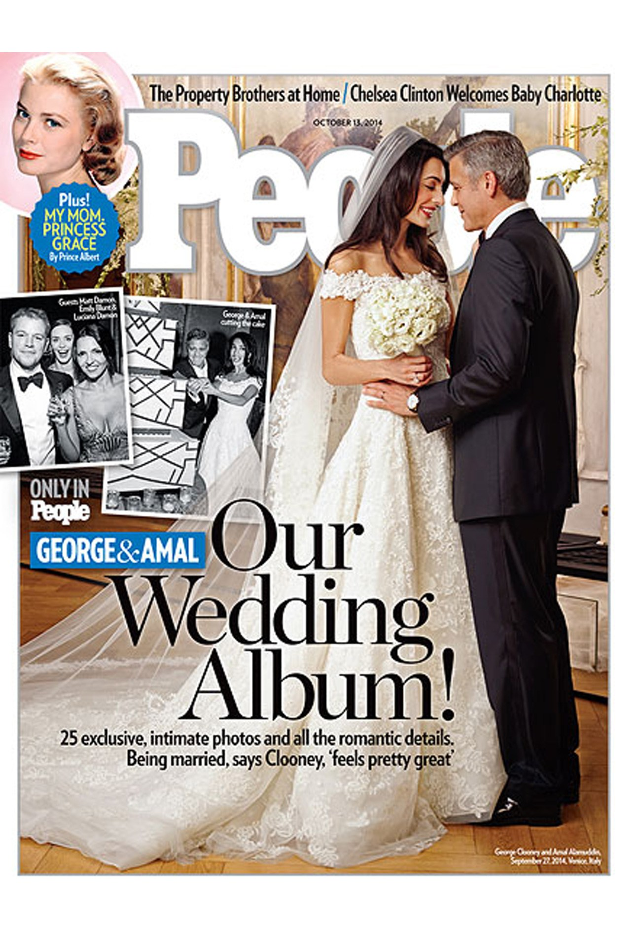 Amal Almuddin Oscar de la Renta Wedding Dress George Clooney