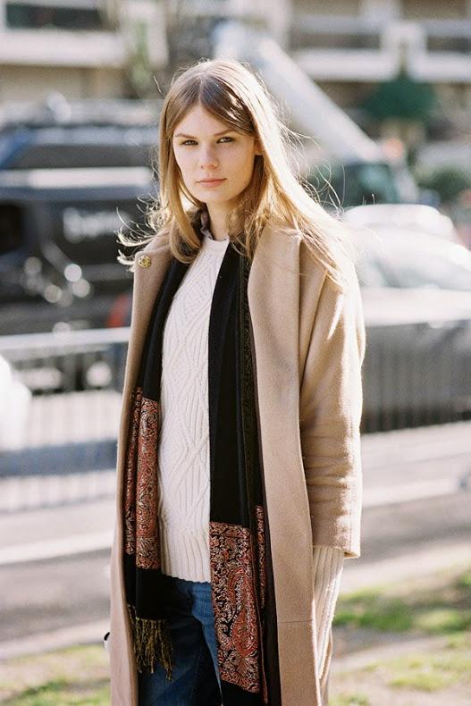 Beige Sweater street style