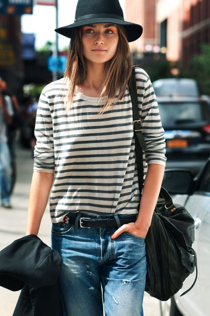 fedora and stripes style
