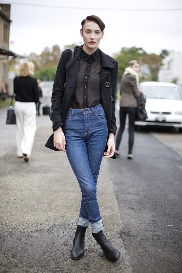 sheer black top style