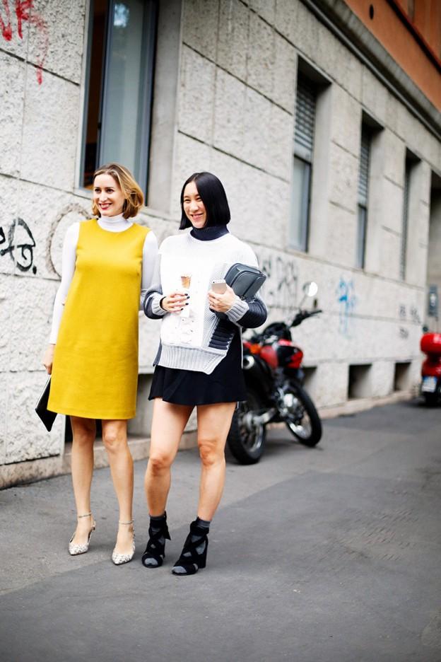 Street Style Milan Fashion Week Yellow Trend