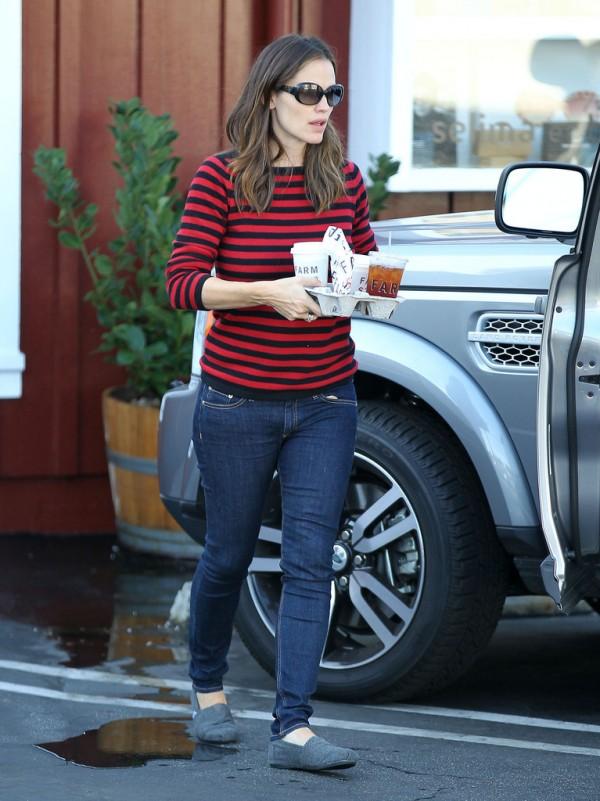 Jennifer Gardner Striped sweater
