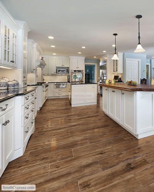 White Kitchen With Gray Plank Porcelain Tile Floor: Porcelanato, Lo Que Sabías Y Lo Que No.