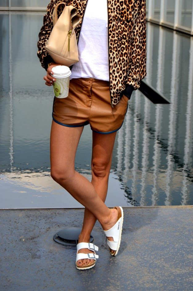 birkenstocks with animal print