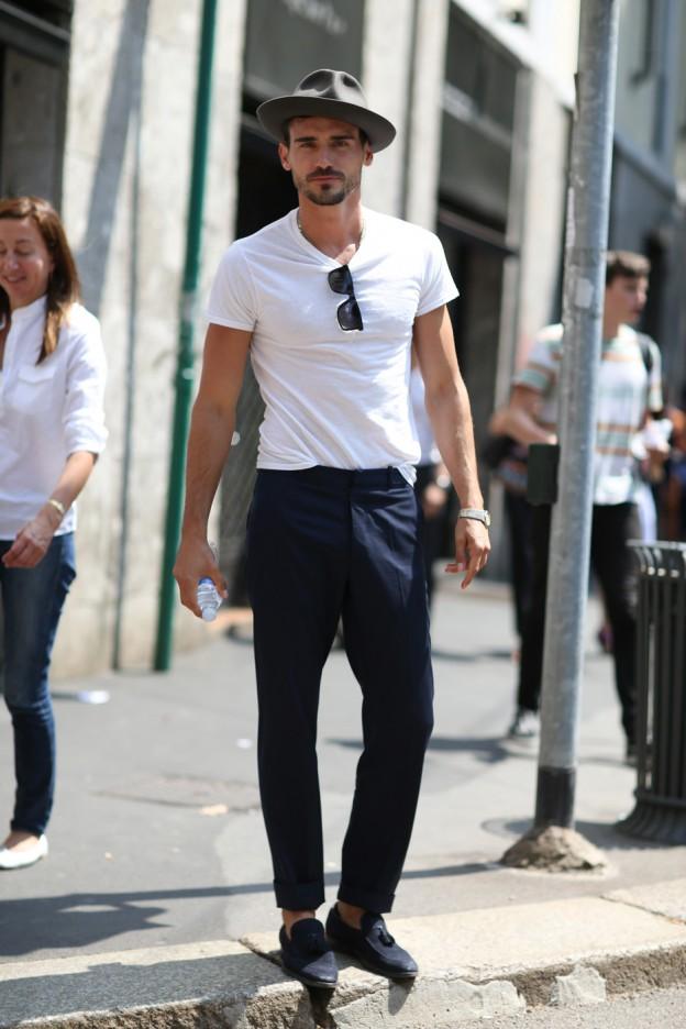 men style white tshirt look