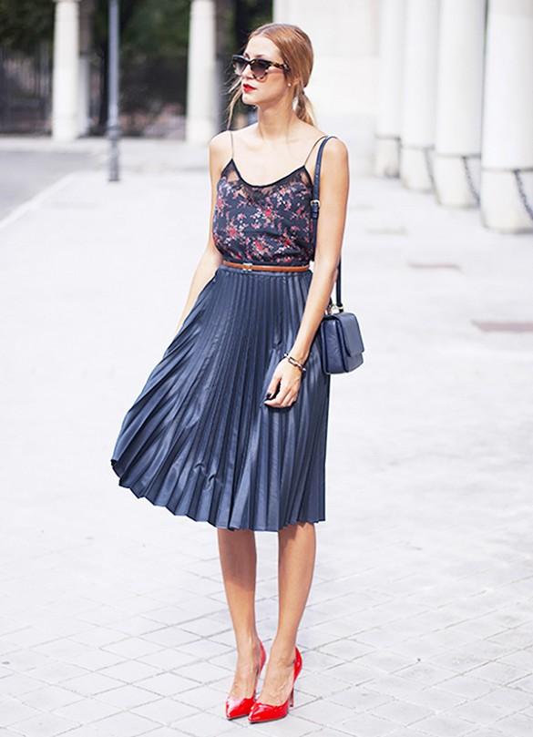 pleated skirt summer look 2