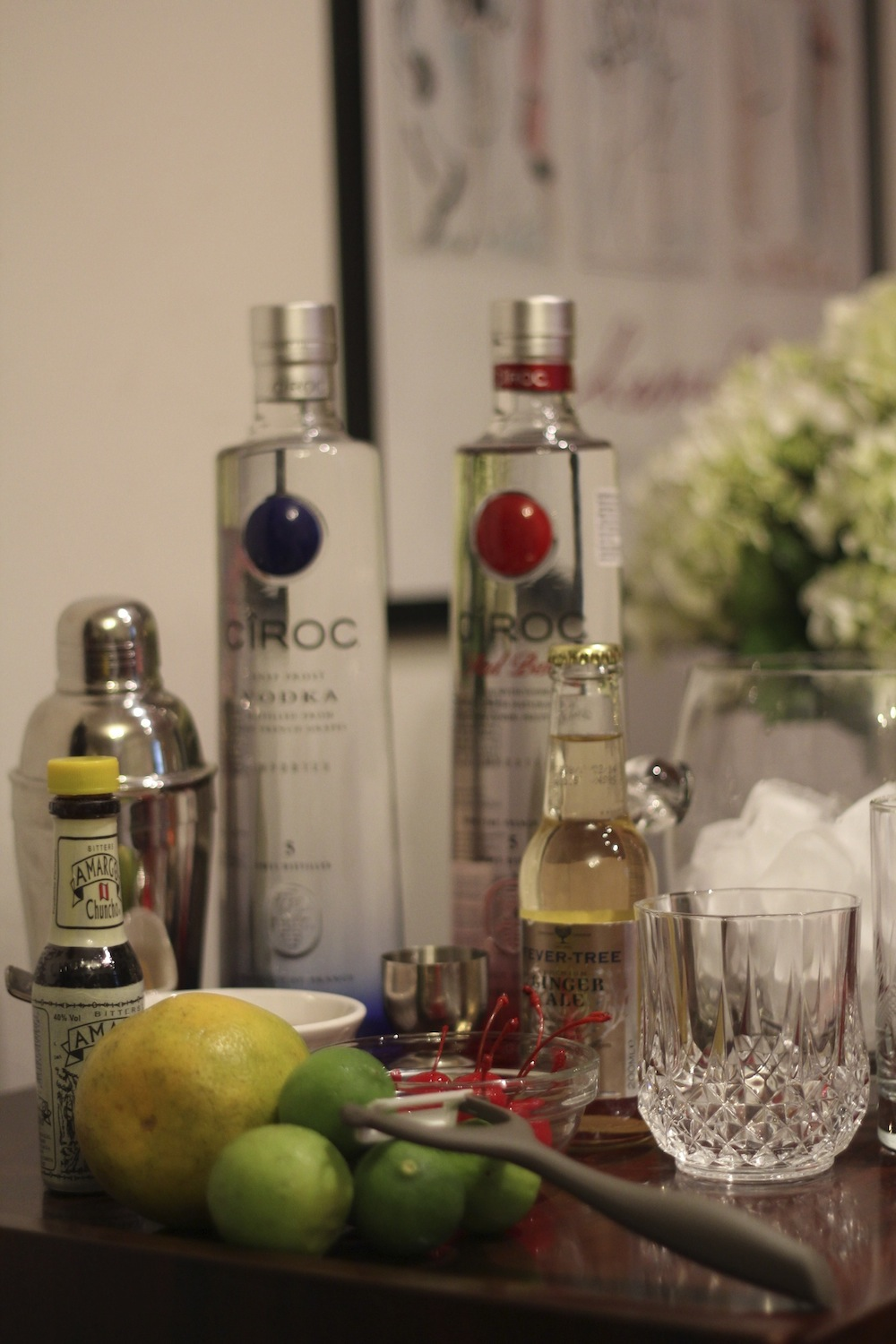 Vodka Ciroc Red Berry y Ultra Premium