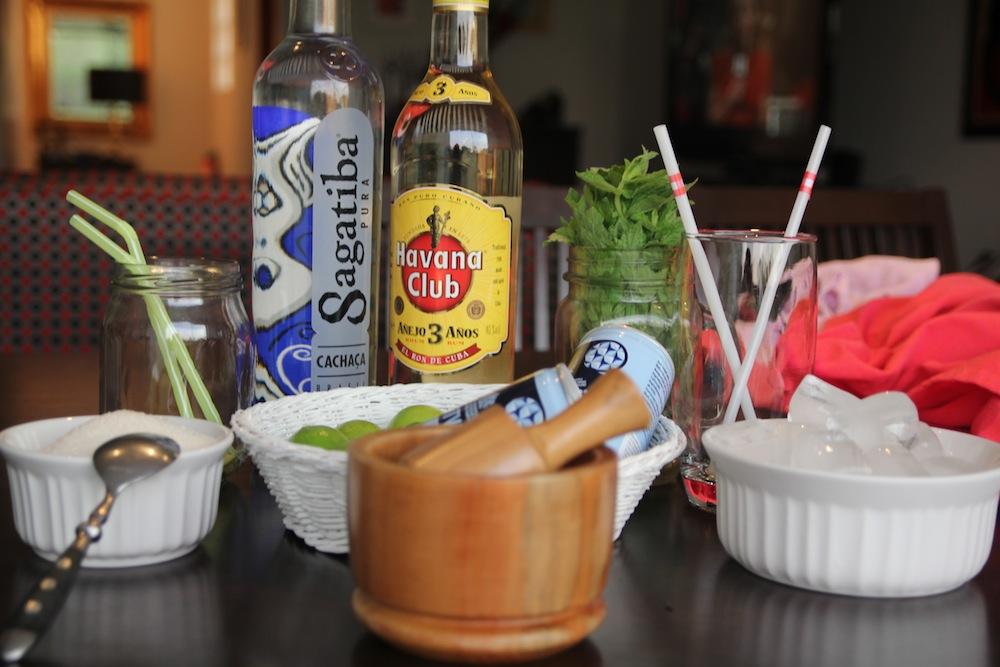 Ingredientes Caipirinha y Mojito