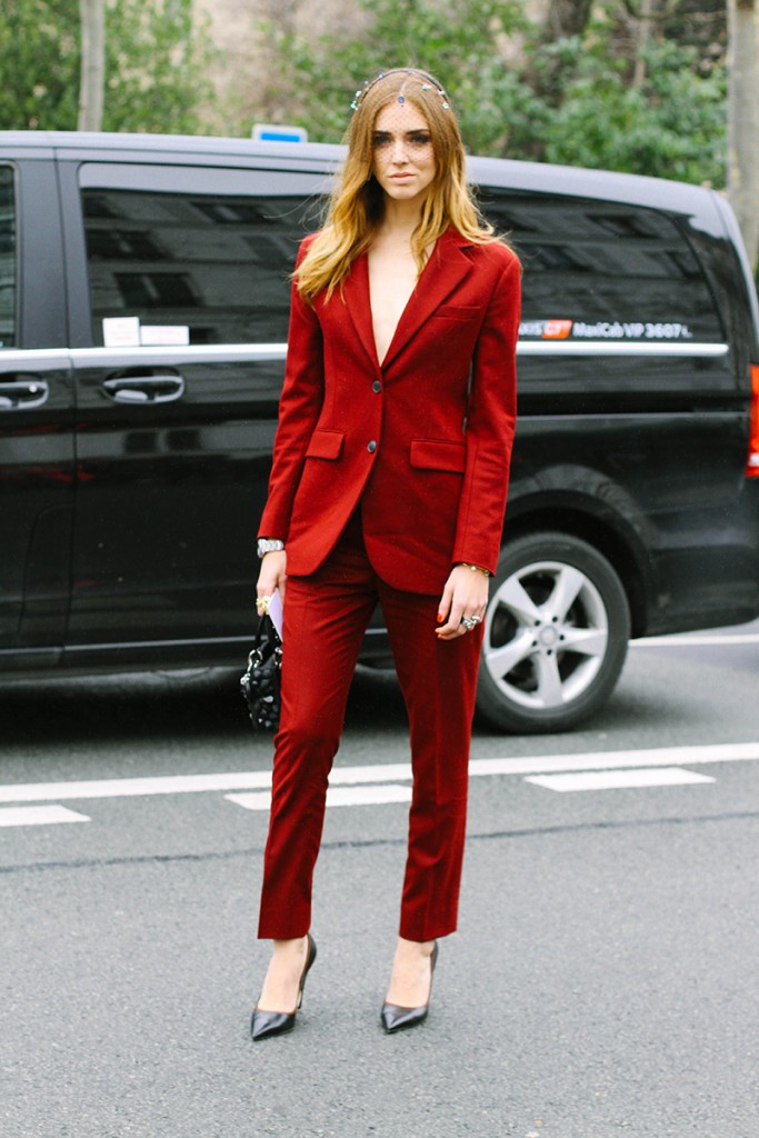 chiara ferragni all red style