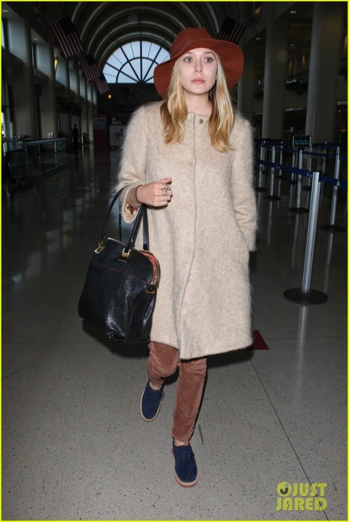 Actress Elizabeth Olsen arrives at LAX