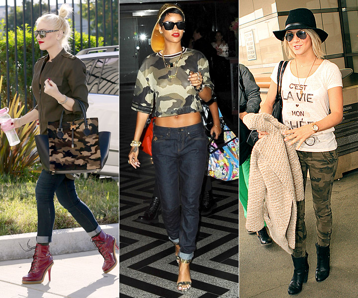 celebrities camouflage trend