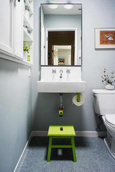 Baños Decoracion Sencilla:Compartiendo el baño con los chicos, y organizándolo bien