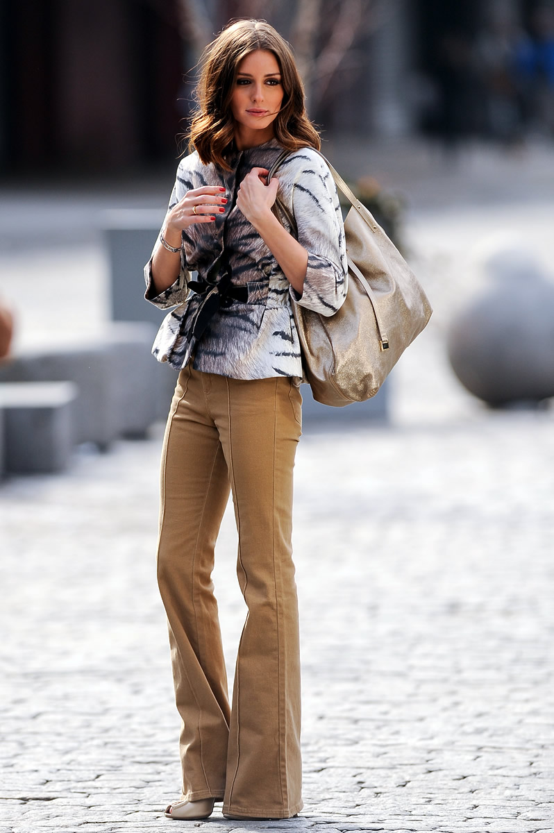 olivia palermo flared pants