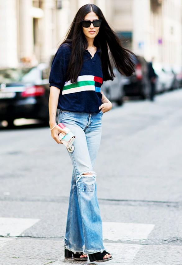 polo shirt street stye