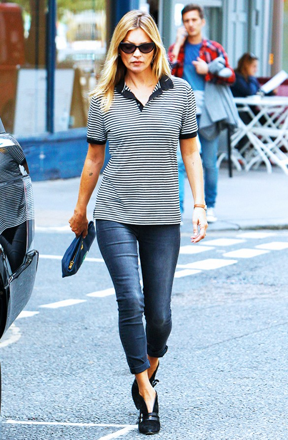 polo shirt street style kate moss