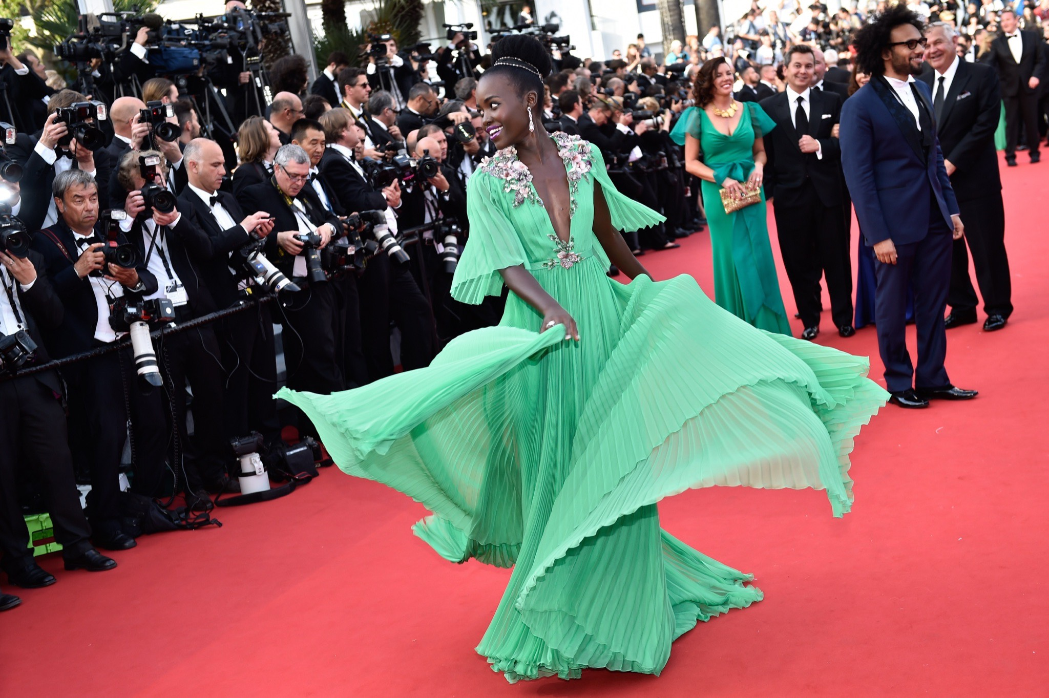 Lupita Nyong'o, in Gucci, cannes 2015