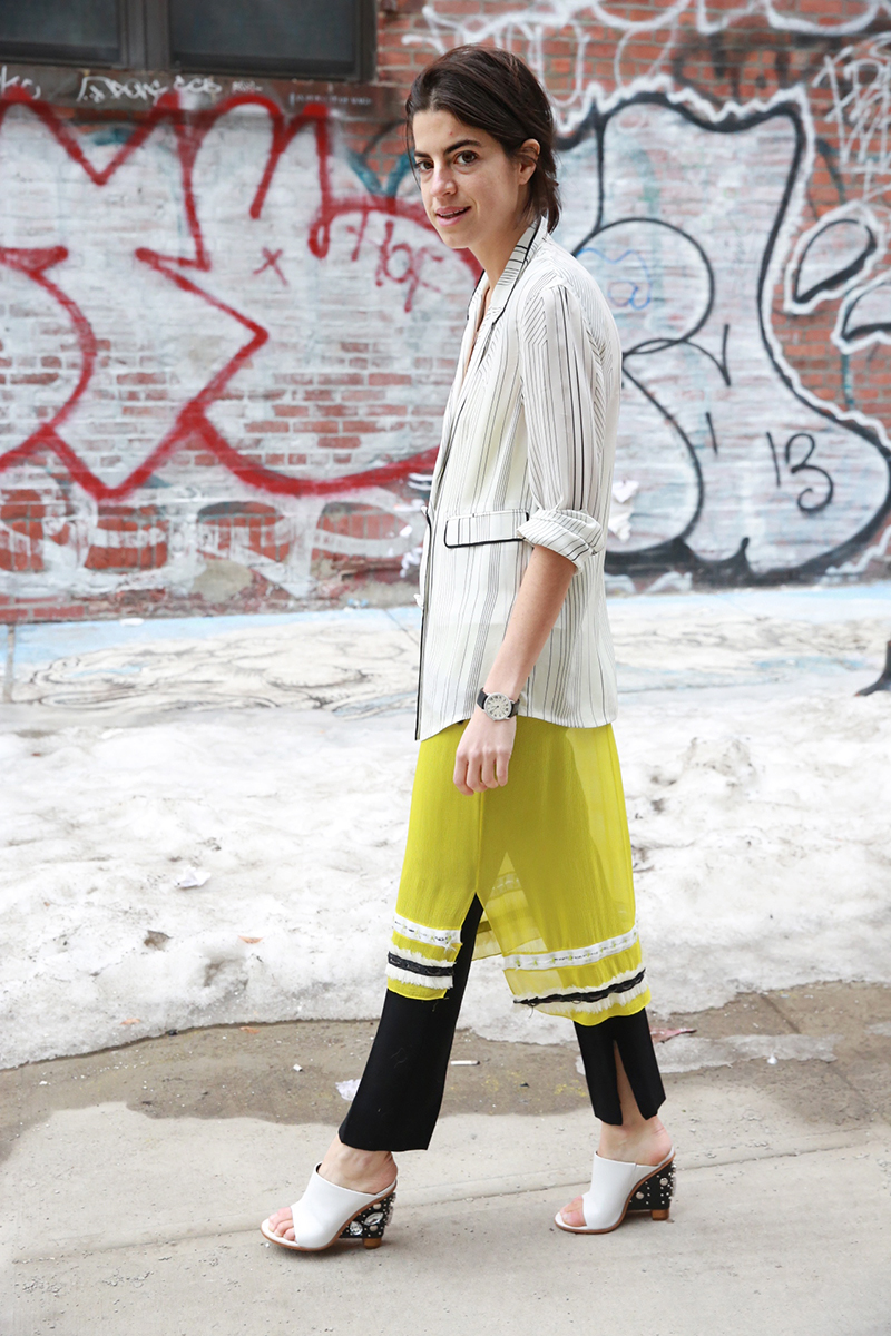 leandra medine dress over pants