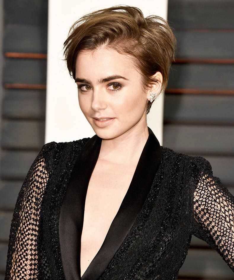 lily collins deep side part
