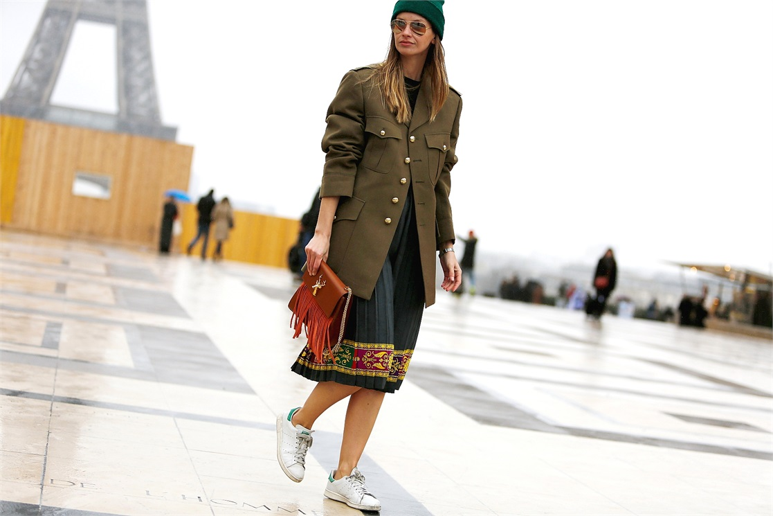 military jacket street style