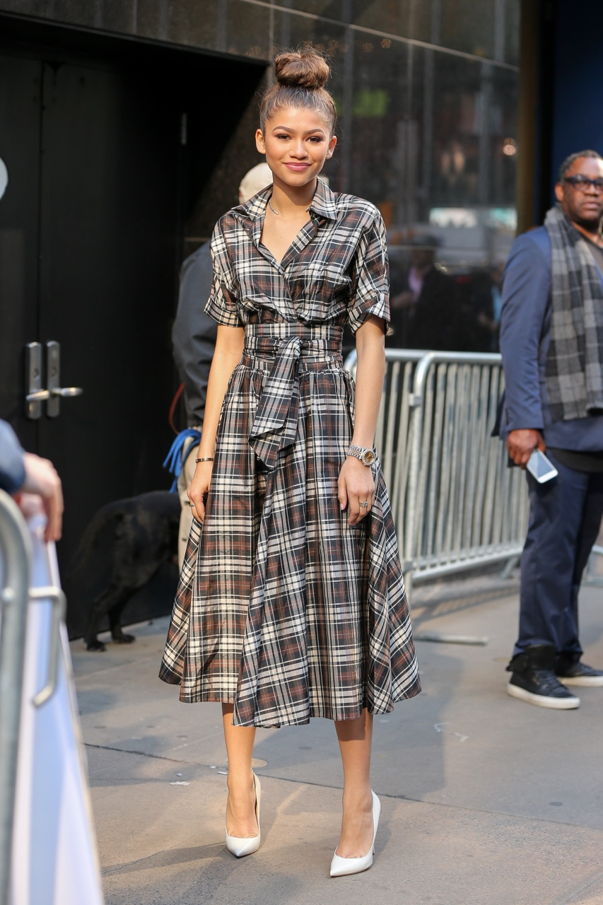 zendaya plaid dress