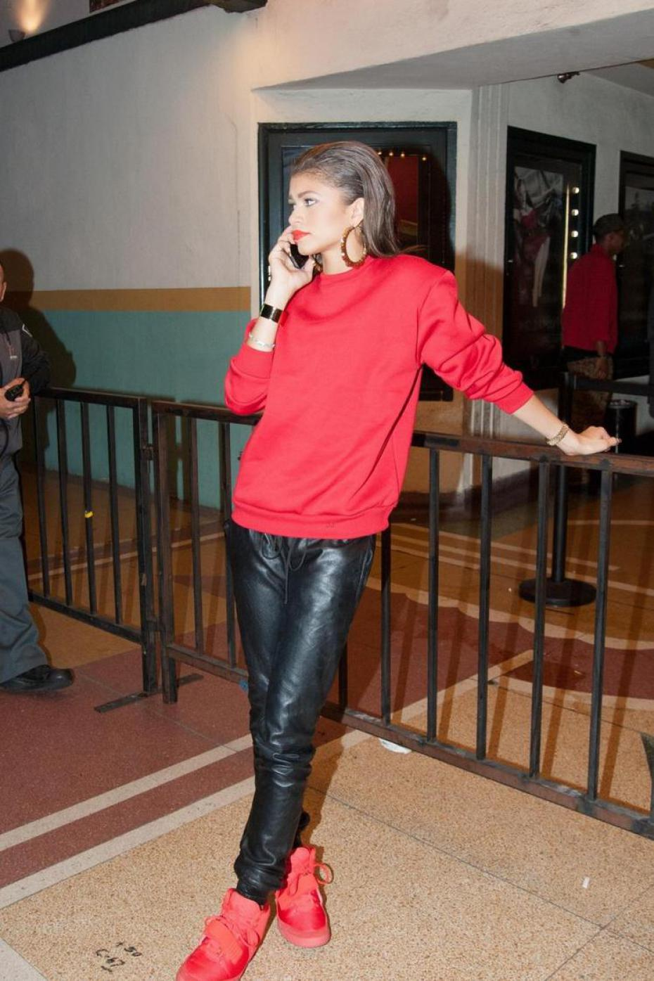 zendaya red and black