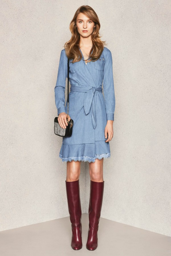 a Diane von Furstenberg spring summer 2015 denim dress