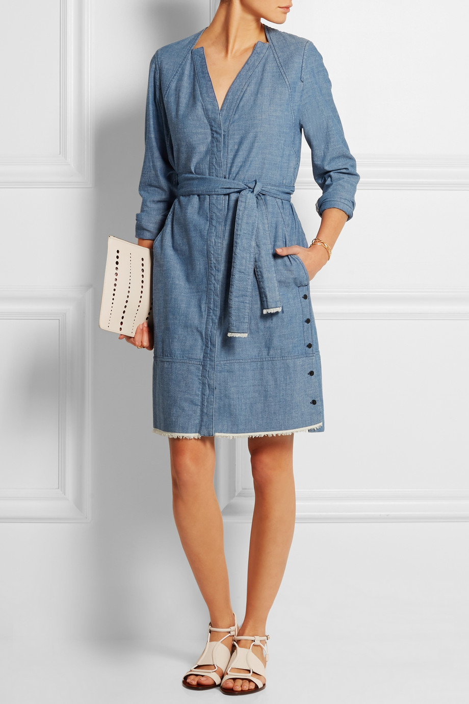 a proenza schouler spring summer 2015 denim dress