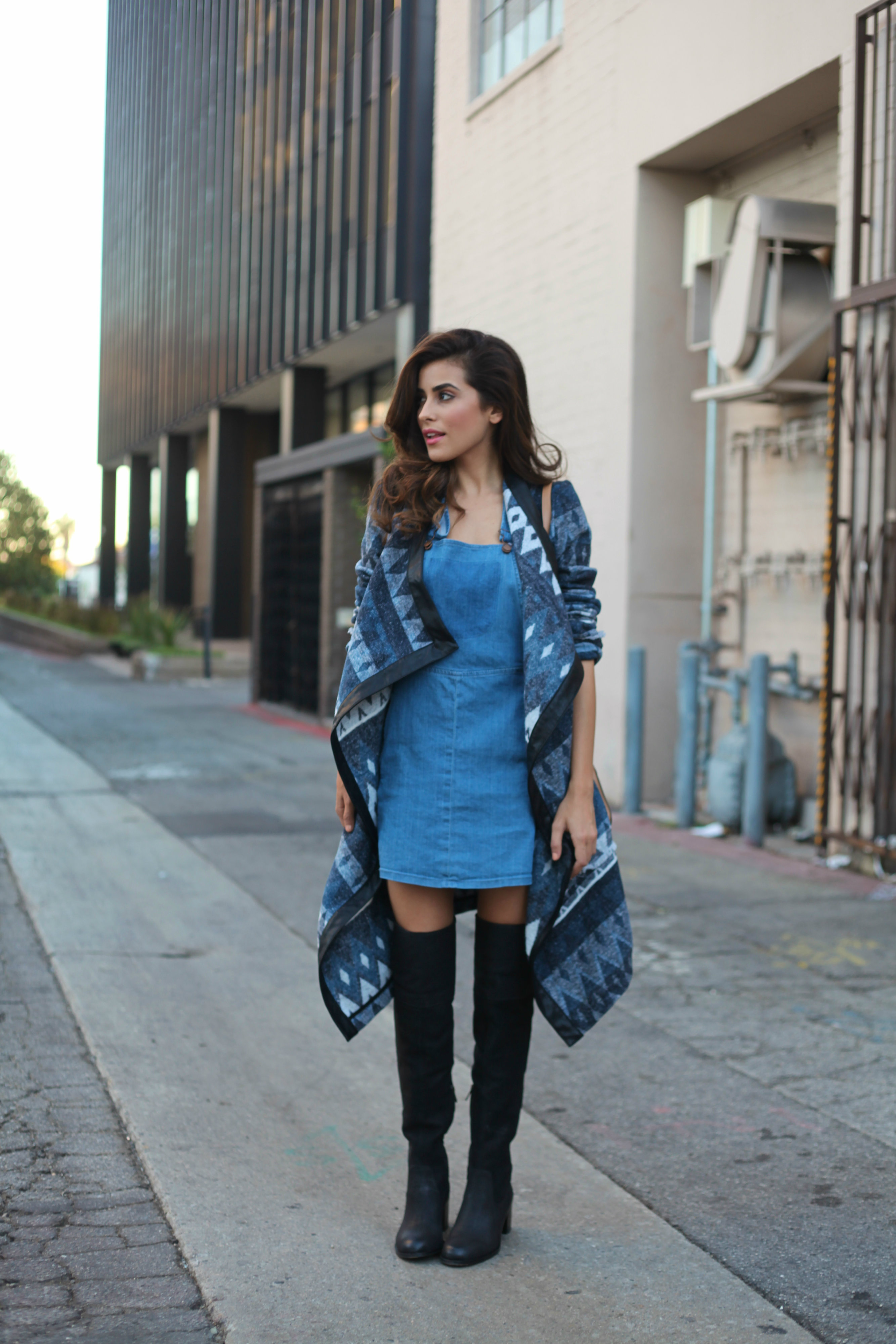 denim dress street style 2
