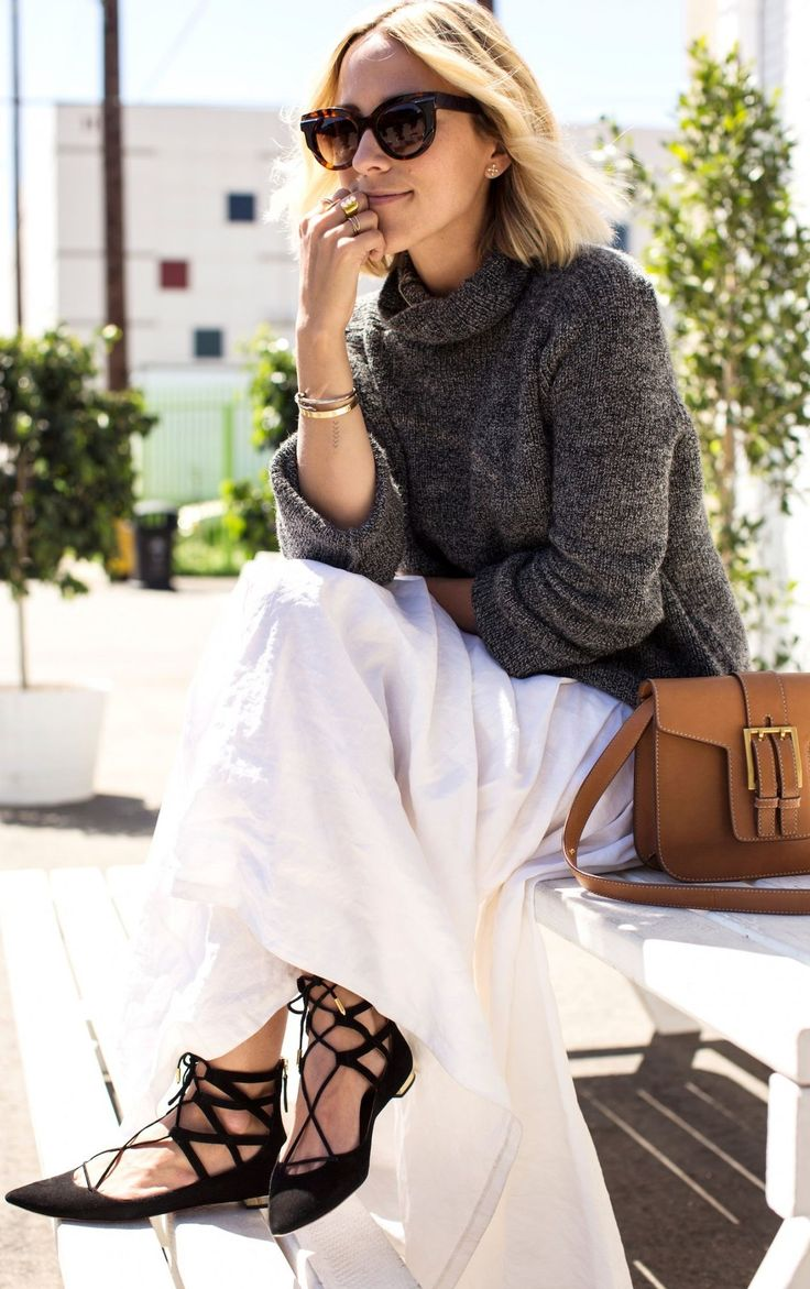 lace up flats street style 2