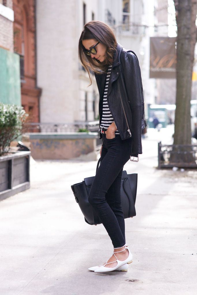 lace up flats street style 4