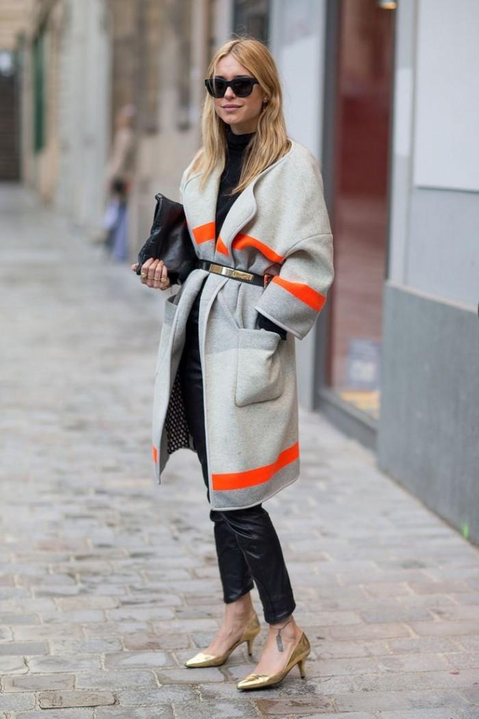 wrap coat street style 2