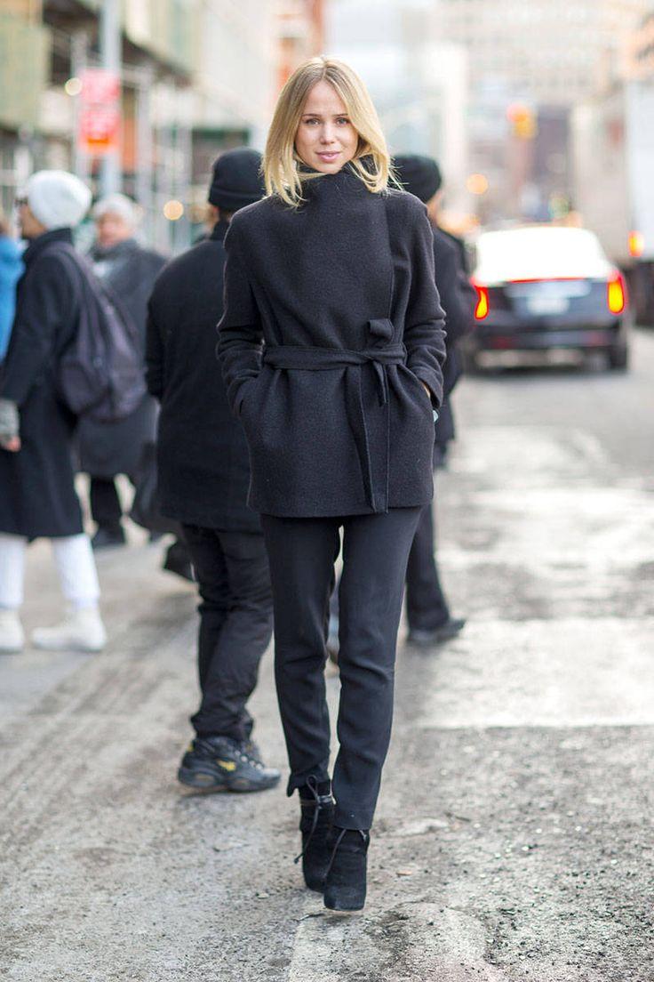 wrap coat street style