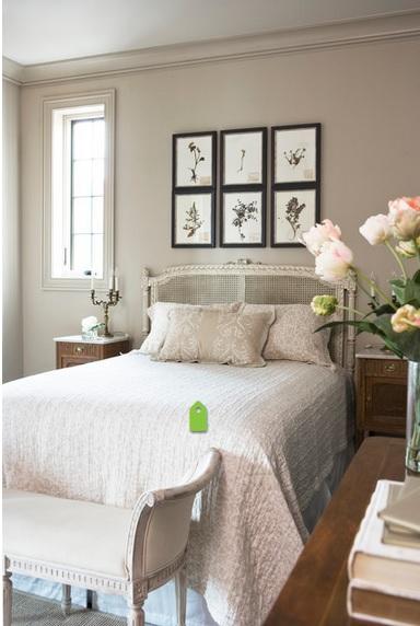 Cuadros para encima del cabecero cabecero cama dormitorio moderno mosaico techo ideas with - Cuadros encima cabecero cama ...