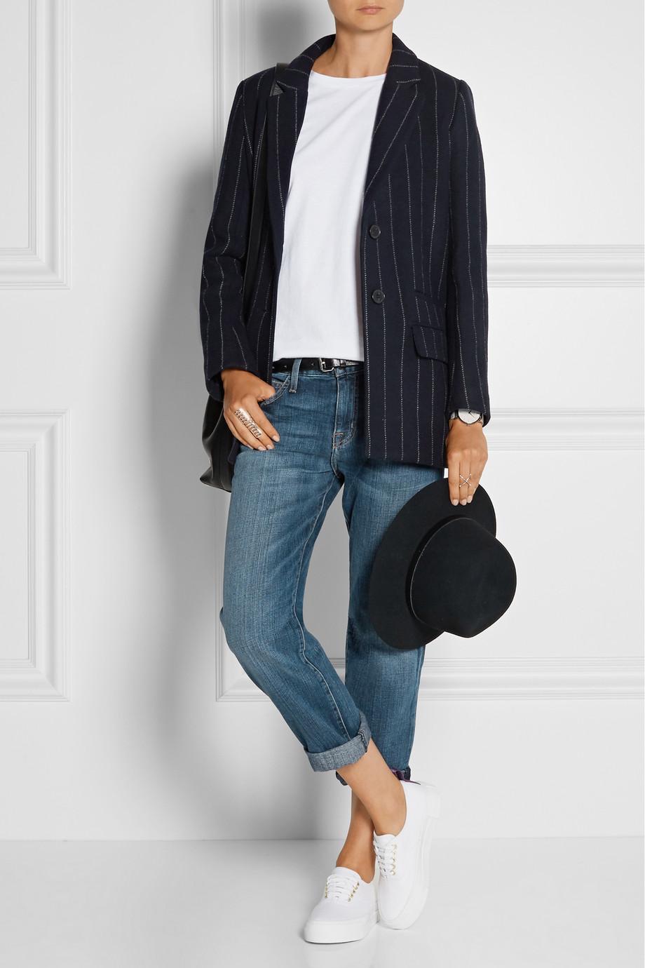 maje blazer with stripes