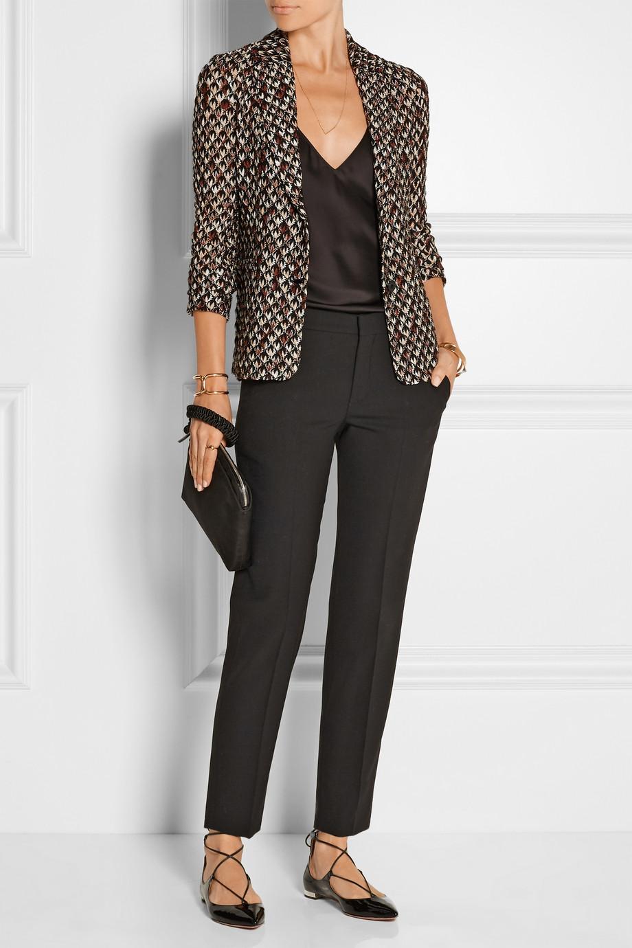 missoni blazer with texture