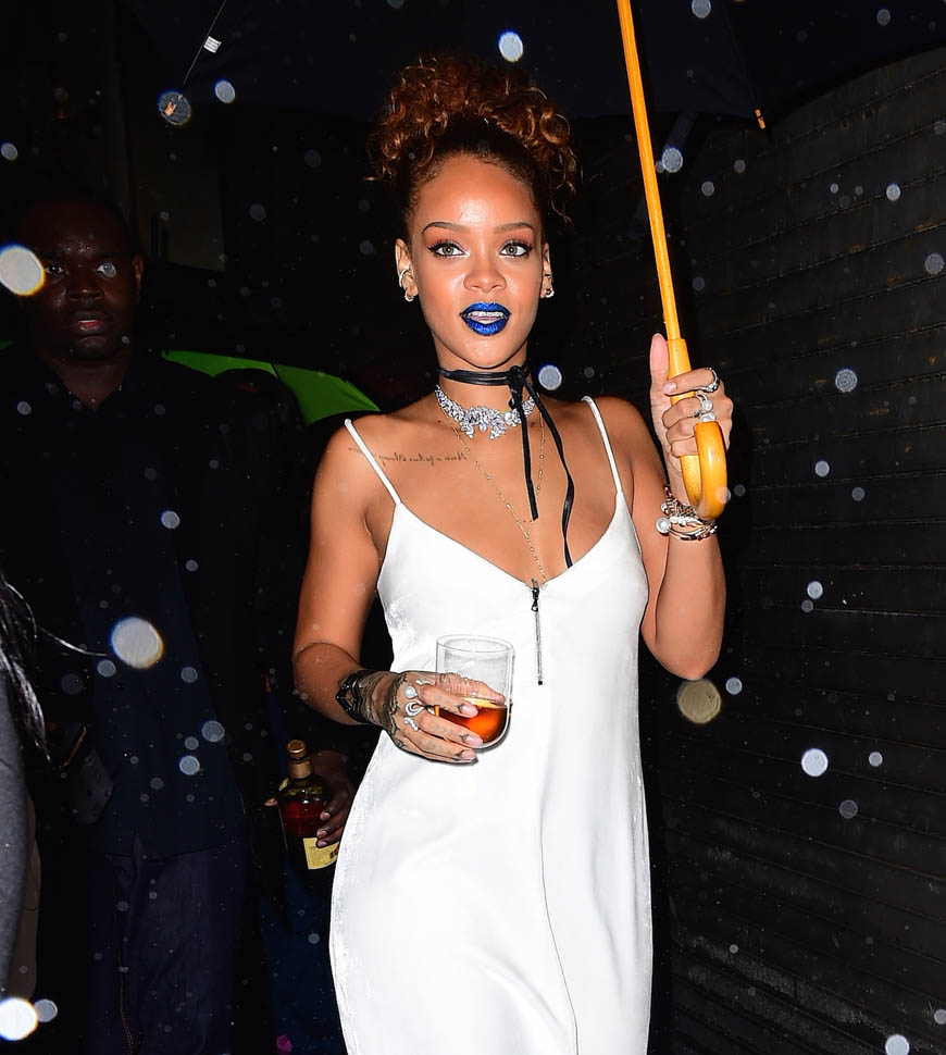 Rihanna Has a Big Smile Despite Her Block Party being Soaked by Rain